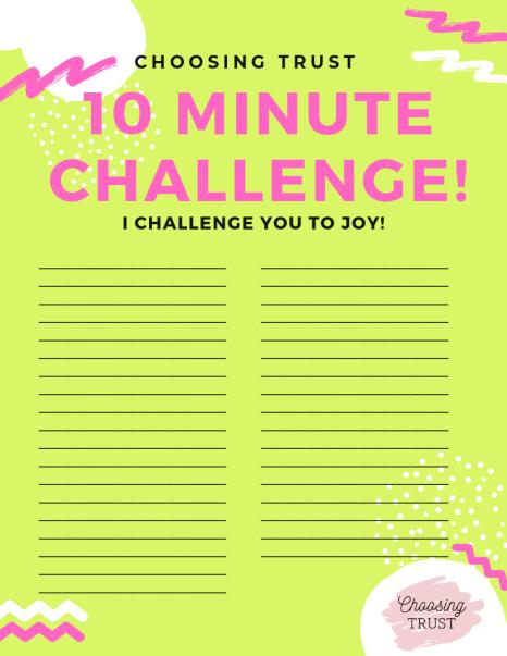 10 Minute Challenge!