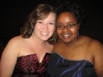 At our college formal. My brother was her date! :) 2007